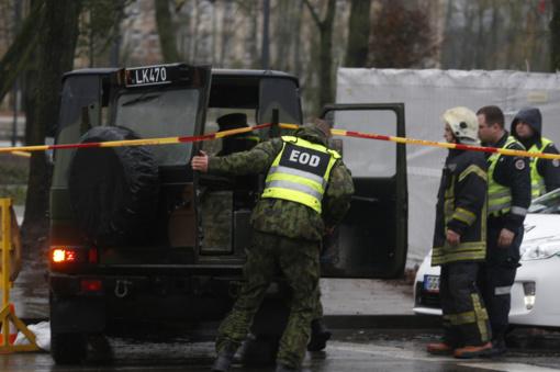 Į Lukiškių aikštę galimai atvežtas sprogmuo