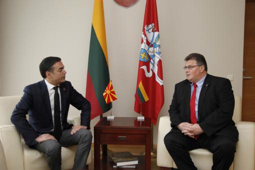 L. Linkevičius parėmė Makedonijos narystės ES ir NATO siekius