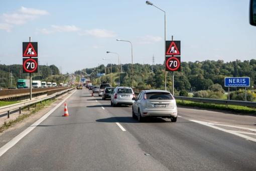 Bandomas Kleboniškių tiltas, eismas leidžiamas kairiąja puse