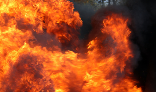 Šilalės rajone degė vilkikas