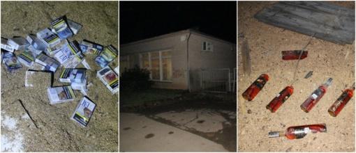 Trys 16-mečiai, Mažeikių rajone apiplėšę parduotuvę, sulaikyti su visais įkalčiais