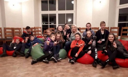 """Vilkyškių Jaunieji šauliai dalyvavo sąskrydyje """"Naktis pilyje III"""""""