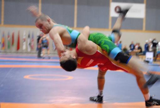 M. Knystautas iškovojo jaunimo imtynių čempionato bronzos medalį