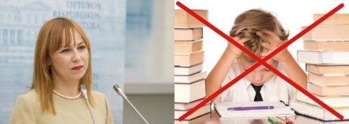 Švietimo ir mokslo ministrė: ateities mokykla - be namų darbų