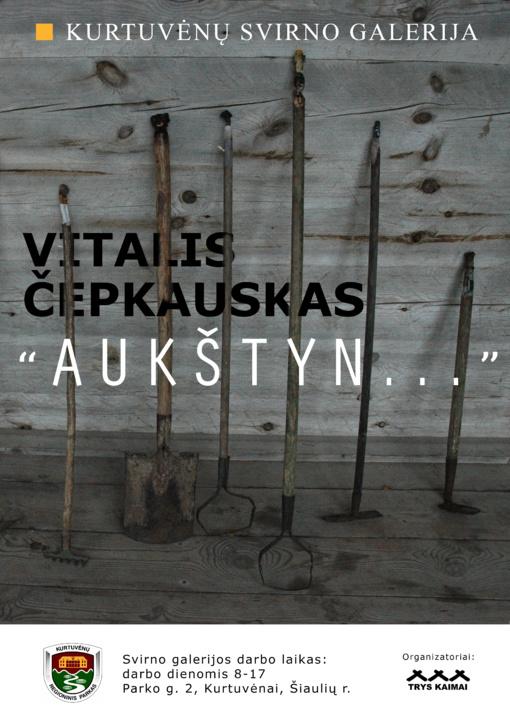 "Kurtuvėnų svirno galerijoje Vitalio Čepkausko paroda ,,Aukštyn"""