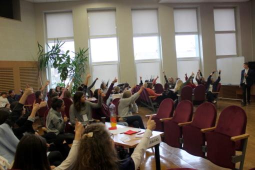 """Įvyko Marijampolės mokinių savivaldų konferencija """"Pažink, siek ir tobulėk!"""""""