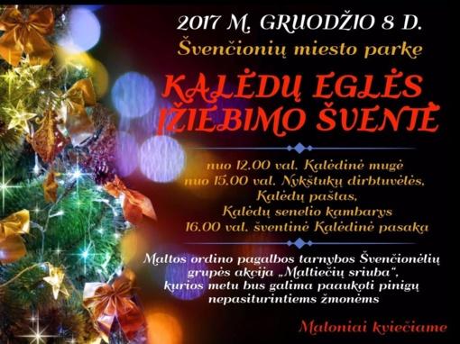 Kviečiame į Švenčionių rajone įvyksiančias Kalėdų eglių įžiebimo šventes
