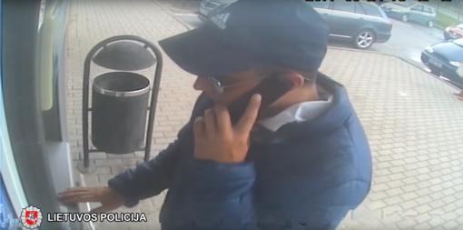 Šilalės rajono policijos pareigūnai prašo atpažinti asmenį (VIDEO)