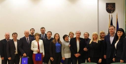 Visagine lankėsi delegacija iš Ukrainos
