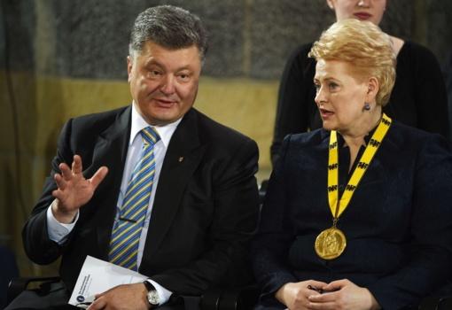 Į Lietuvą atvyko Ukrainos prezidentas P. Porošenka