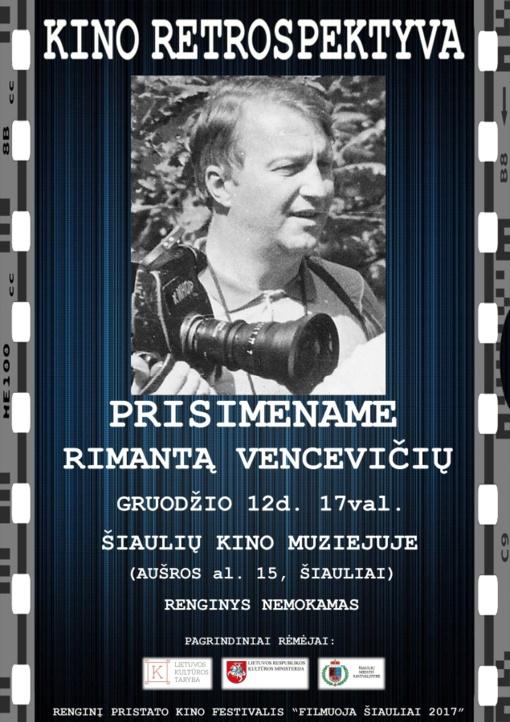Prisimename Rimantą Vencevičių