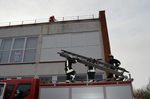 Joniškio mokykloje - Kalėdinė evakuacija