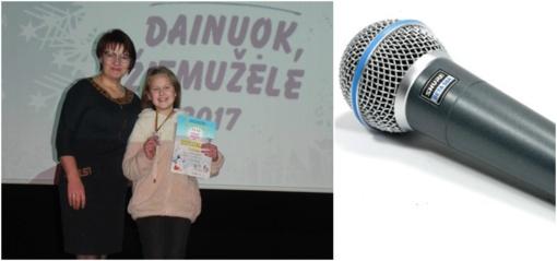 """Sėkmė lydėjo Baltijos šalių konkurse """"Dainuok, žiemužėle 2017"""""""