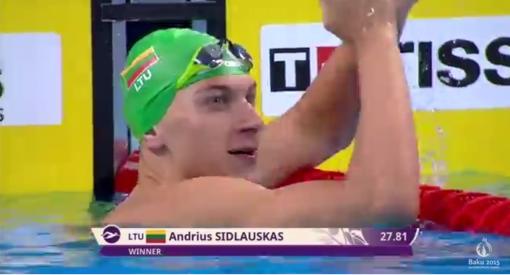 Lietuvos plaukimo čempionatas: Andrius Šidlauskas pranoko Giedrių Titenį