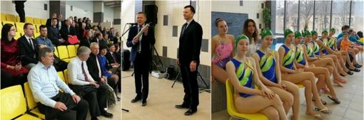 Radviliškyje duris atvėrė naujausias Lietuvoje plaukimo baseinas