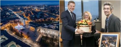 Vilniaus meras susitiko su gražiausios Europoje Kalėdų eglės kūrėjais