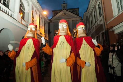 Vilniečiai ir miesto svečiai šventė Trijų karalių dieną
