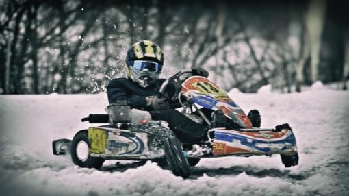 Žiemišką savaitgalį kartingo lenktynininkai varžysis Elektrėnuose (nuotraukų galerija)