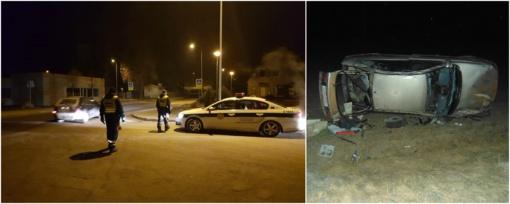 Aktyvus kelių policininkų savaitgalis Žemaitijoje: girti, beteisiai ir pabėgęs vairuotojas