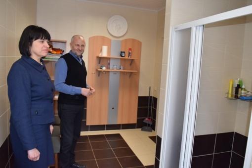 Kretingalės seniūnijoje įrengtas higienos kambarys