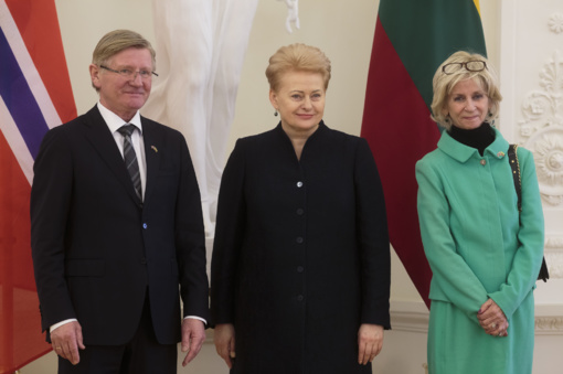 Prezidentė priėmė Norvegijos ambasadoriaus skiriamuosius raštus