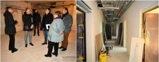 Jurbarko kultūros centre atliekami remonto darbai vyksta sklandžiai