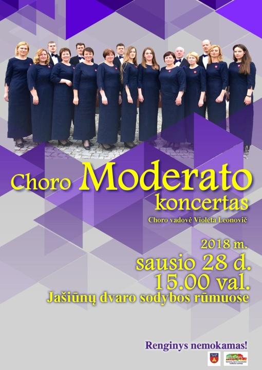 """Choro """"Moderato"""" koncertas Jašiūnų dvare"""