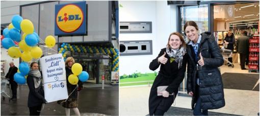 """Atsidariusią """"Lidl"""" parduotuvę išradingai sveikino kaimynai """"Splius"""" (FOTO)"""
