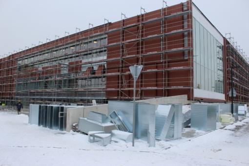 Baseino statybos Klaipėdoje: atliekami paskutiniai darbai