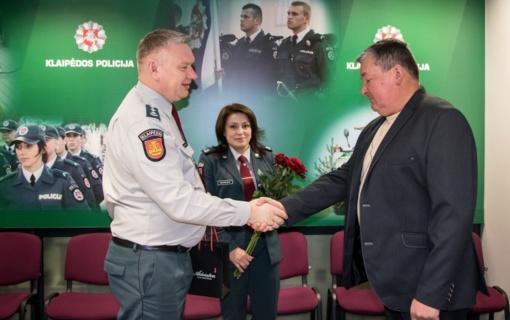 Tarnybą Klaipėdos policijoje baigė ilgametis areštinės darbuotojas
