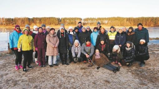 Sveikuoliškame ėjime dalyvavo 32 lazdijiečiai, tarp jų – 84-erių O. Petuškienė