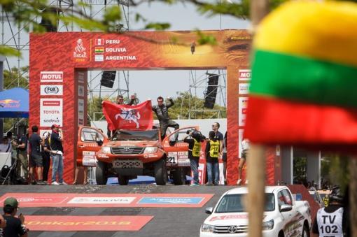 Dėl ekologiško sprendimo A. Juknevičiui - išskirtinis Dakaro organizatorių dėmesys