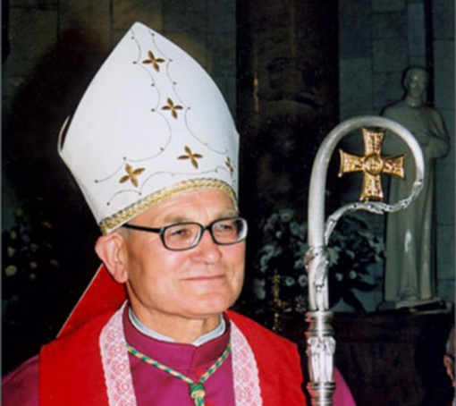 Garbės piliečio vardas suteiktas Panevėžio vyskupui emeritui Jonui Kauneckui