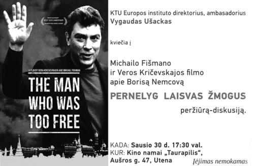 Vygaudas Ušackas kviečia prisiminti Borisą Nemcovą