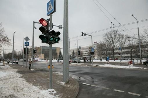 Žirmūnų ir Kalvarijų g. pradės veikti naujai įrengti šviesoforai