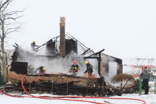 Jurbarko rajone degė namas