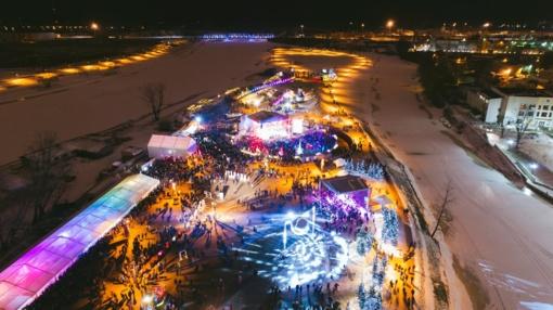 Jelgava kviečia pasinerti į svajones ledo šalyje (vaizdo reportažas)