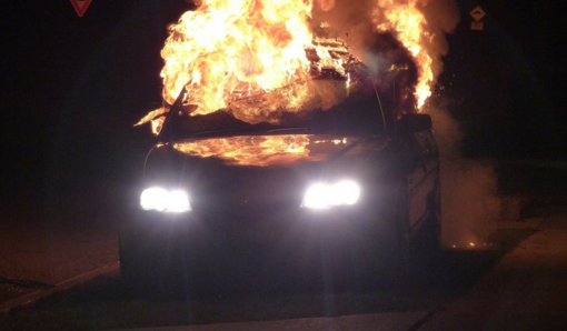 Alytuje degė automobilis