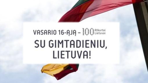 Renginių, skirtų Lietuvos atkūrimo 100-mečiui, programa Biržuose