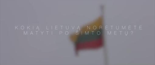 """Jautrus vaizdo reportažas: """"Kokią Lietuvą norėtumėte matyti po šimto metų?"""""""