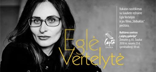"""""""Laiptų galerijoje"""" - susitikimas su Egle Vertelyte"""