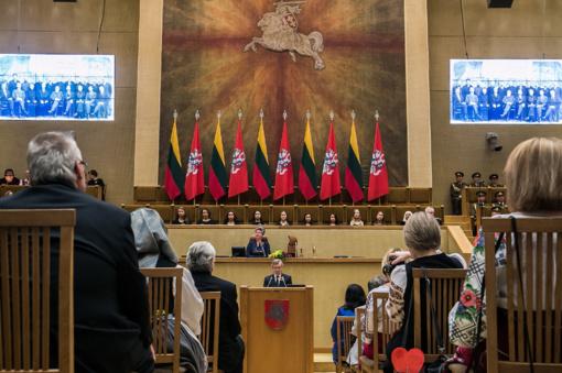 Seime iškilmingai paminėtas Lietuvos valstybės atkūrimo 100-metis
