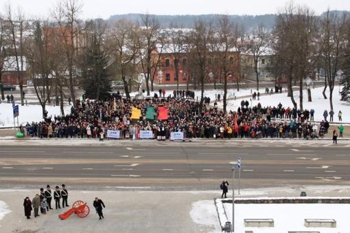 Anykščiai šventė Lietuvos valstybės atkūrimo 100-metį