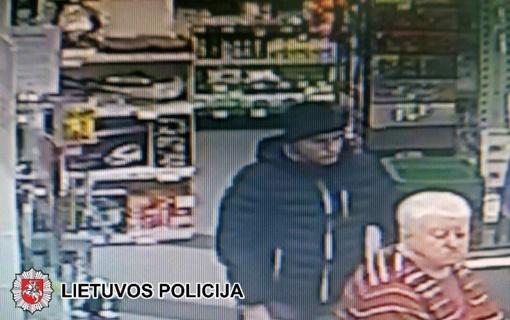 Panevėžio policija prašo padėti atpažinti įtariamąjį