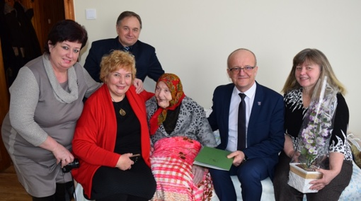 Prienų rajone pasveikinta šimtametė