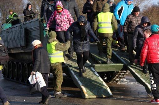 Kariai lieka Šilutės rajono potvynio rajone teikti paramą gyventojams