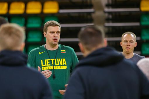 D. Adomaitis paskelbė Lietuvos rinktinės sudėtį rungtynėms su Vengrija