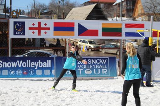 Tinklininkės U. Andriukaitytė ir I. Zobnina triumfavo turnyre Gruzijoje iškovojo kelialapį į Europos čempionatą