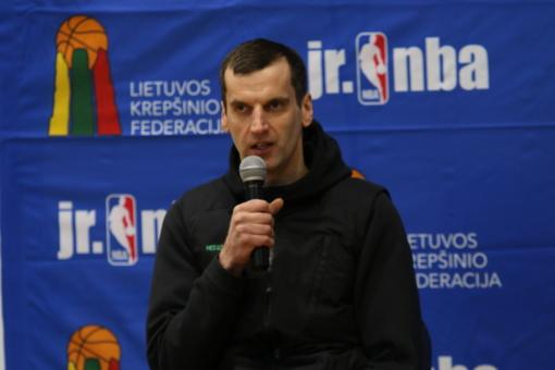 """""""Jr. NBA Lietuva"""" čempionato burtus ištraukęs B. Matkevičius: čia gali gimti būsimos žvaigždės"""