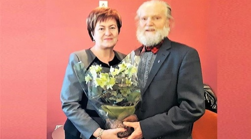 Jubiliejaus proga pasveikintas Tauragės garbės pilietis Albinas Batavičius